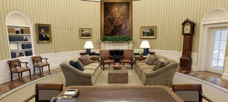 Donald Trump replaces George Washington painting in Oval Office with Vigo the Carpathian