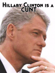 Former President Clinton rallies the Cunts